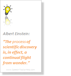 Albert Einstein promulgates the process of scientific discovery