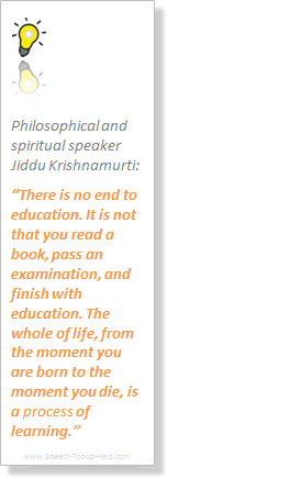 Jiddu Krishnamurti Philosophical and spiritual public speaker on the process of learning