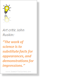 John Ruskin Art critic science impression on topics for demonstrative speech presentations to broader thinking