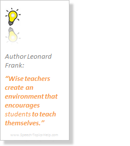Leonard Frank Author explains how to impel students studying