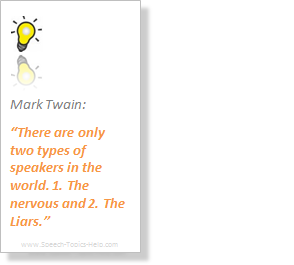 Mark Twain topics for demonstration speech on various optionala assignments