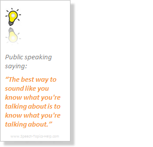 good public speaking topics for teenagers