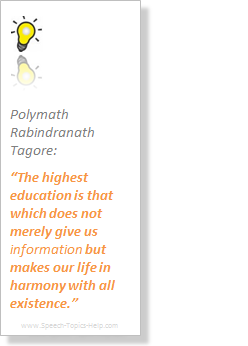 Rabindranath Tagore Polymath makes information on life education lucid