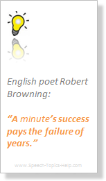 Speech quote on minutes of Robert Browning English poet