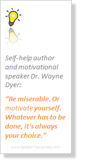 speech topics about yourself