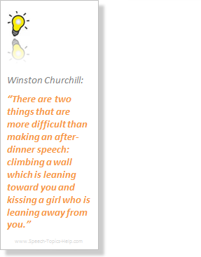 Winston Churchill on the difficulties of talking in public about me, myself, and I